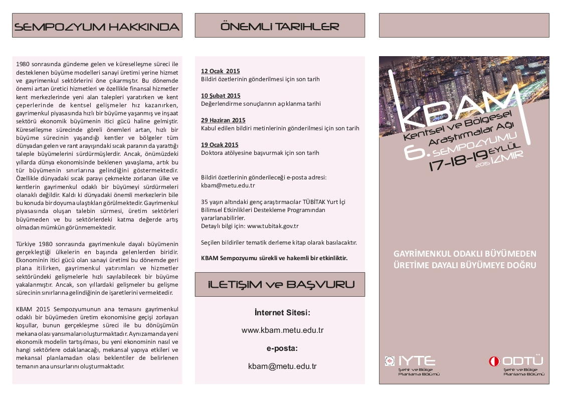 6. KBAM Sempozyum brosuru